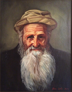 Old Man with Straw Hat (40.6x50.8 cm)