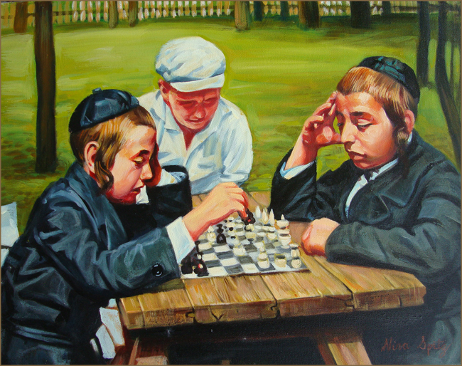 The Chess Players (40.6x50.8 cm)
